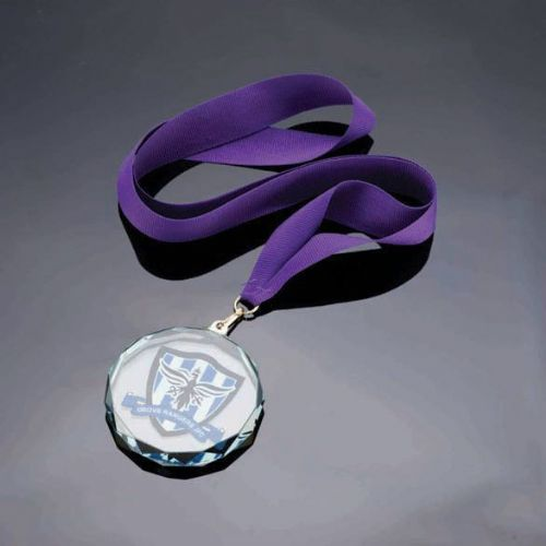 Imperial Jade Glass Medal 70mm